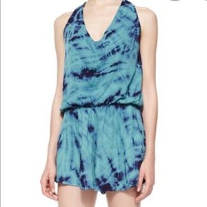 Young, fabulous, and broke tie dye romper